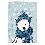 Tarjeta brillante de Westie del invierno