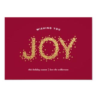 """Tarjeta brillante del día de fiesta de la alegría invitación 5"""" x 7"""""""