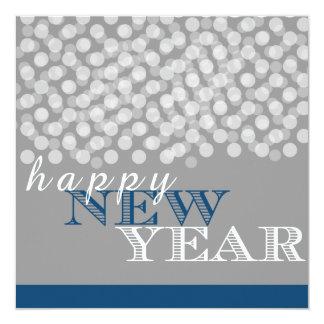 Tarjeta brillante gris azul de las luces de la invitación 13,3 cm x 13,3cm
