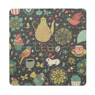 Tarjeta brillante sabrosa del té