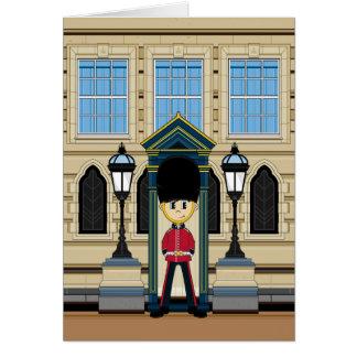 Tarjeta británica de los guardias de Royal Palace