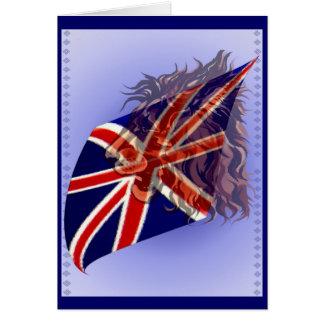 """Tarjeta británica del león de la bandera """"n"""""""