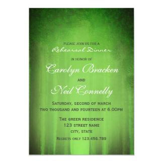 """Tarjeta brumosa verde elegante de la cena del invitación 5"""" x 7"""""""