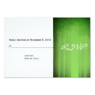 """Tarjeta brumosa verde romántica elegante de RSVP Invitación 3.5"""" X 5"""""""