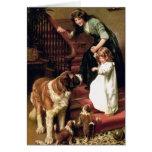 Tarjeta: Buenas noches - con St Bernard Tarjeta De Felicitación