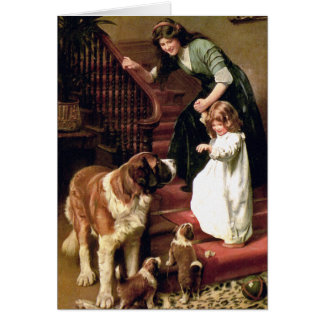 Tarjeta: Buenas noches - con St Bernard