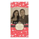 Tarjeta burbujeante de la foto del navidad tarjeta personal