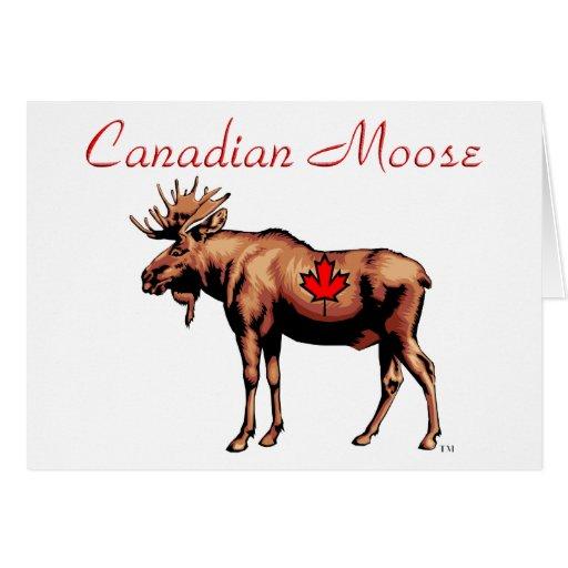 Tarjeta canadiense de los alces