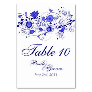 Tarjeta caprichosa 1 de la tabla de los azules