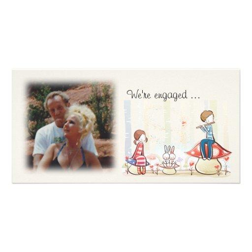 Tarjeta caprichosa de la foto de la invitación del tarjetas con fotos personalizadas