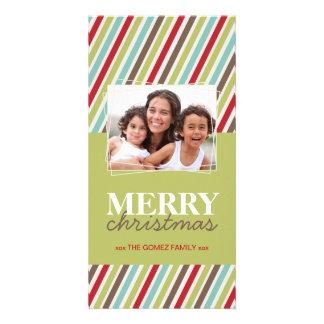 Tarjeta caprichosa de la foto del navidad de la di tarjeta con foto personalizada