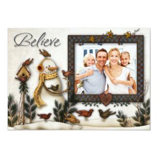 Tarjeta caprichosa de la foto del navidad de los invitacion personal