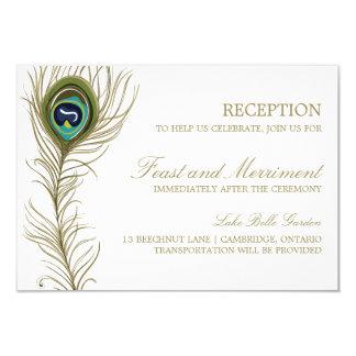 Tarjeta caprichosa de la recepción de la pluma del invitación 8,9 x 12,7 cm