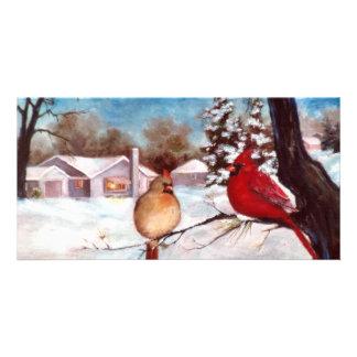 Tarjeta cardinal de la foto de la serenidad de los tarjeta fotografica personalizada