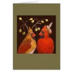 Tarjeta cardinal de los pares
