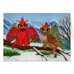 Tarjeta cardinal del arte del gato de la fantasía