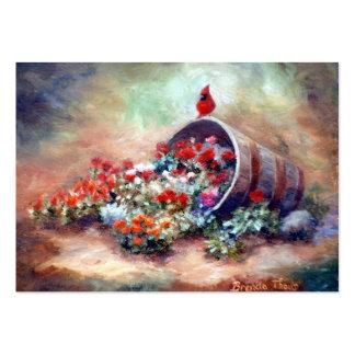 Tarjeta cardinal del arte que desborda tarjetas de visita