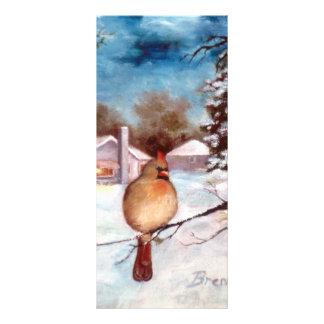 Tarjeta cardinal del estante de la serenidad de lo diseños de tarjetas publicitarias