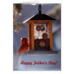 Tarjeta cardinal roja del día de padre