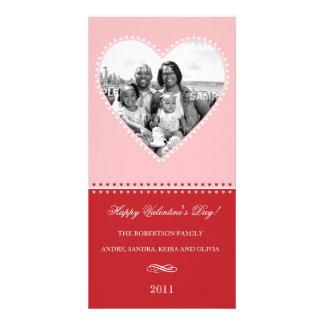 Tarjeta cariñosa grande de la foto del corazón tarjetas fotograficas personalizadas