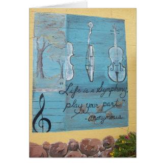 Tarjeta: Casa de las colinas del tilo de la música Tarjeta De Felicitación