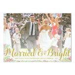 Tarjeta casada de la foto del día de fiesta de los anuncios