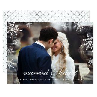 """Tarjeta casada y brillante de la foto del día de invitación 5"""" x 7"""""""