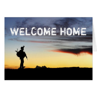 Tarjeta casera agradable del soldado