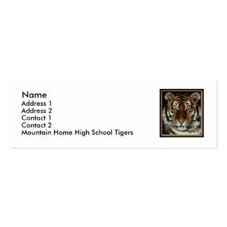 Tarjeta casera del contacto de los tigres de la tarjetas de visita mini