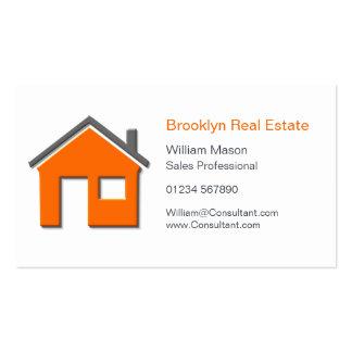 Tarjeta casera simple del agente inmobiliario del tarjetas de visita