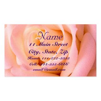Tarjeta casi rosada del perfil tarjetas de visita