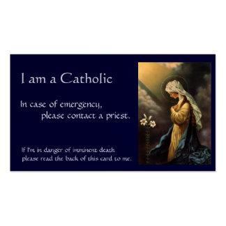 """Tarjeta católica de la identificación """"en caso de tarjetas de visita"""
