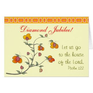 Tarjeta católica del jubileo de diamante de la