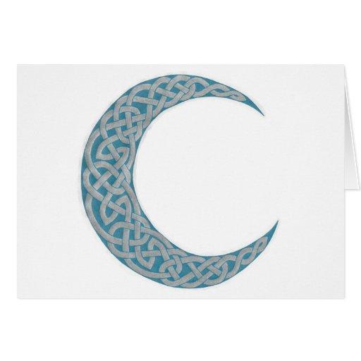 Tarjeta céltica 2 de la luna
