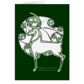 Tarjeta céltica de los ciervos de Herne