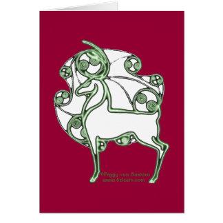 Tarjeta céltica de los ciervos del navidad de Hern