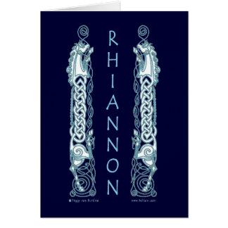 Tarjeta céltica del caballo de Rhiannon