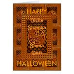 Tarjeta céltica del feliz Halloween