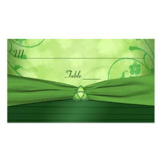 Tarjeta céltica del lugar del nudo de amor del tarjetas de visita