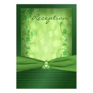 Tarjeta céltica del recinto del nudo de amor del tarjetas de visita grandes