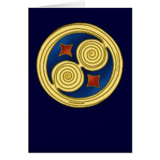 Tarjeta céltica, disco doble azul