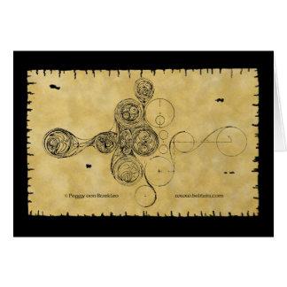 Tarjeta céltica, diseño del manuscrito