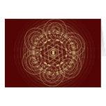 Tarjeta céltica roja del diseño
