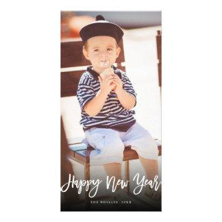 Tarjeta cepillada de la foto del día de fiesta de tarjetas con fotos personalizadas