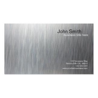 Tarjeta cepillada metálica de la vertical del tarjetas de visita