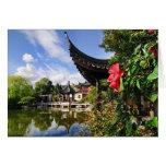 Tarjeta china del jardín del Lan Su