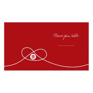 Tarjeta china del lugar del boda de la felicidad tarjetas de visita