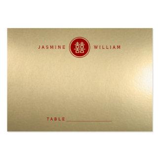 Tarjeta china del lugar del boda de la felicidad tarjetas de visita grandes
