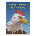 Tarjeta chistosa de la afirmación del cáncer