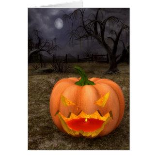 Tarjeta clásica de Halloween de la Jack-O-Linterna